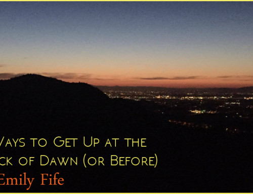 9 Ways to Get Up at the Crack of Dawn (or Before) by Emily Fife